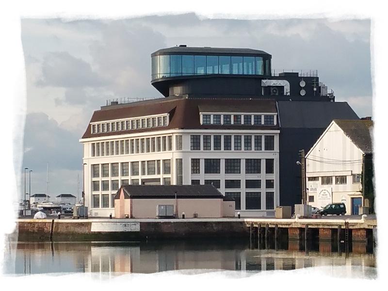 Vue du batiment qui abritera le futur musée des pêcheries de Fécamp